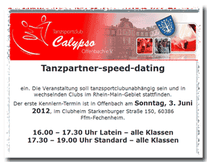 Tanzpartner-Speed-Dating - Bild aus: TSC-Calypso (clickbar)