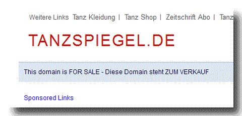 tanzspiegel.de; Screenshot mit Stand: 05-06-2012
