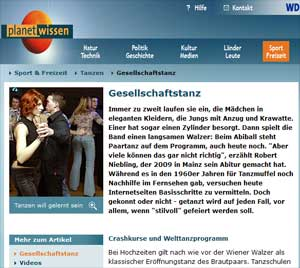 Gesellschaftstanz - planet-wissen.de